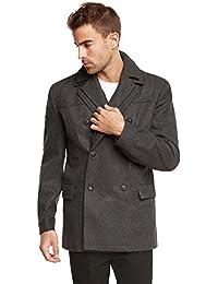 "<span class=""a-offscreen"">[Sponsored]</span>Men's Euro Slim Fit Wool Peacoat Jacket by"