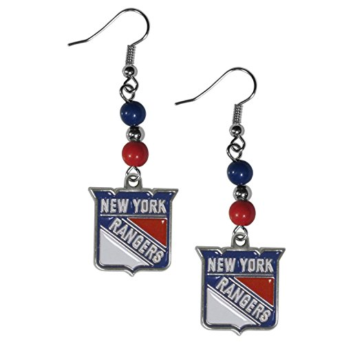 - Siskiyou NHL New York Rangers Fan Bead Dangle Earrings