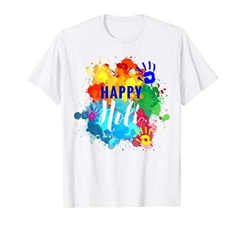 Happy Holi T-Shirt Colors India Hindu Spring (Happy Holi)