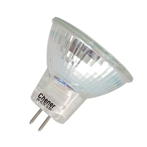MR11 GU4 Base LED,6 Pack,Halogen Replacement Spotlight G4 Bulb,AC/DC10-30V,3W(25W Equivalent),Warm White,Safety Protection Glass Cover,Chener by Chener (Image #8)