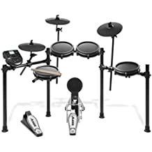 Alesis Drums Nitro Mesh Kit   Eight Piece All-Mesh Electronic Drum Kit With Super-Solid Aluminum Rack, 385 Sounds, 60 Play-Along Tracks, Connection Cables, Drum Sticks & Drum Key included