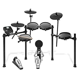 Alesis Drums Nitro Mesh Kit, Eight Piece All Mesh Electronic Drum Kit With Super Solid Aluminum Rack, 385 Sounds, 60…