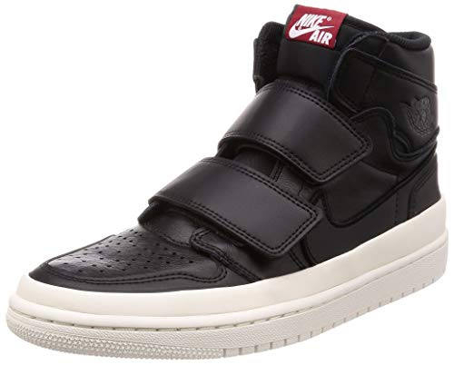 Jordan Air 1 Retro High Double Strap (Black / Gym Red-sail, 13 M US)