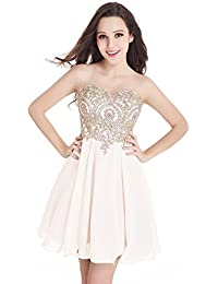 Short sleeve formal dresses gold cheap shorter