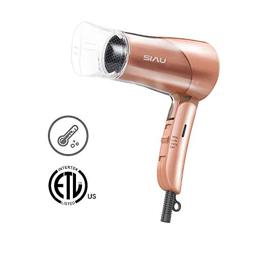 SIAU Ultra Low Radiation Hair Dryer Woman Ionic Ceramic Technology Far-Infrared Blow Dryer Home Styler Rose Gold