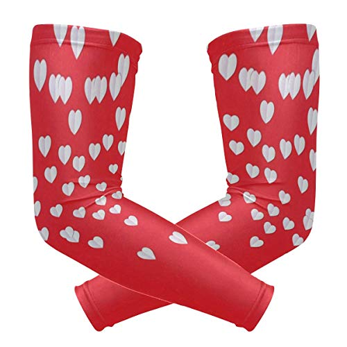 Arm Sleeve Beautiful Hearts Sports Compression/UV Protection/Dry-Fast Breathable/Warmth for Men Women Cycling/Golf/Basketball 1 Pair]()