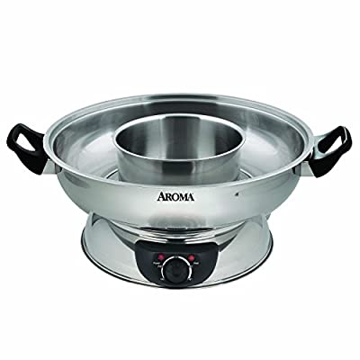 Aroma Housewares ASP-600 Stainless Steel Hot Pot, Silver