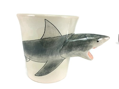 Shark Mug Enamel Cartoon Painted Milk Glass Coffee cup Cute Mug Pottery Mugs Mug Set Anime Tea Cup Giant Mug Spirit Animal for Kid