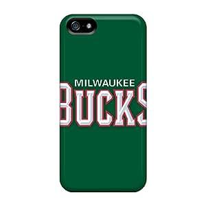 Shock-dirt Proof Nba Milwaukee Bucks 1 Case Cover For Iphone 5/5s