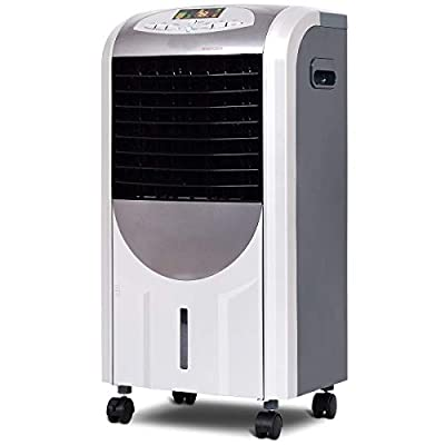 LHONE 5 in 1 Compact Portable Air Conditioner Air Cooler and Heater with Fan Filter Humidifier Ice Crystal Box Remote Control