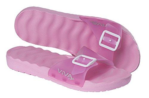 VIVA Shoes - Sandalias de vestir de Material Sintético para mujer pink mit Schnalle