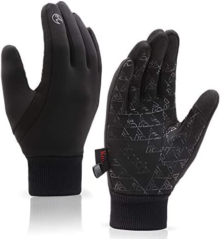 Winter Gloves Men Women Touch Screen Glove Anti-Slip Windproof Waterproof Texting Gloves for Running Cycling