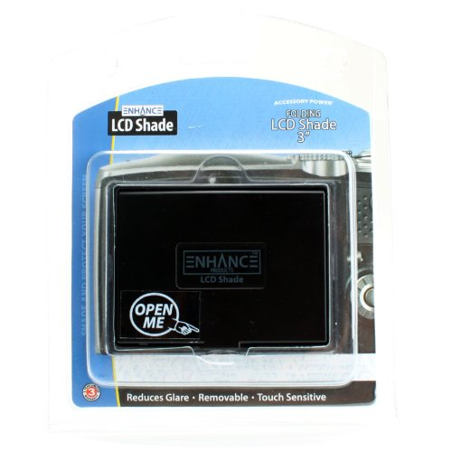Compatible with Canon Sony and More Cameras with 3 Inch Monitors ENHANCE Universal LCD Pop-Up Screen Shade Protector and 3 Inch Screen Adhesive Protector for Glare Elimination Fujifilm Nikon