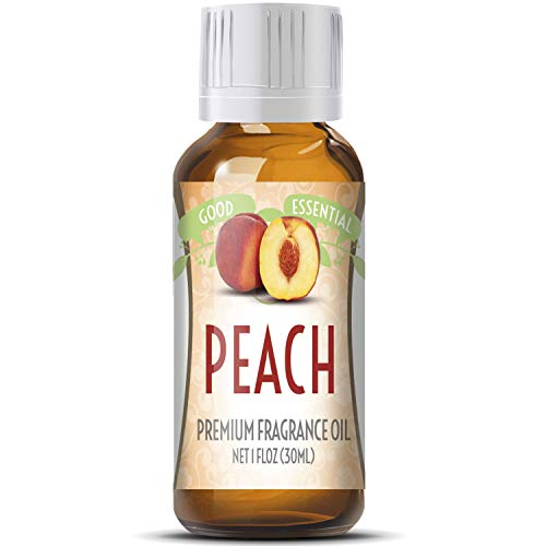 Peach Scented Oil by Good Essential (Huge 1oz Bottle - Premium Grade Fragrance Oil) - Perfect for Aromatherapy, Soaps, Candles, Slime, Lotions, and More! ()