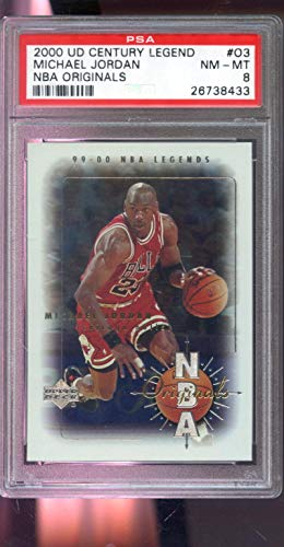 2000-01 1999 Upper Deck UD Century Legend Originals Michael Jordan Insert NBA NM-MT PSA 8 Graded Basketball Card (Basketball Graded Cards)