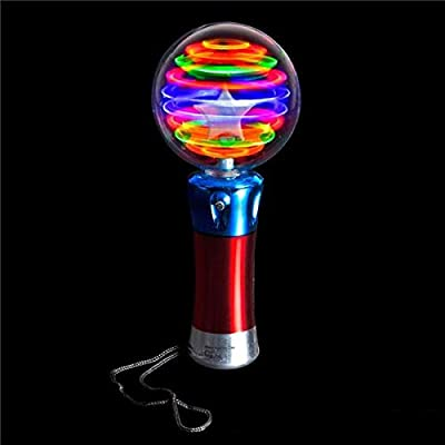 Rhode Island Novelty LED Magic Flashing Ball Wand - 1 Piece: Toys & Games