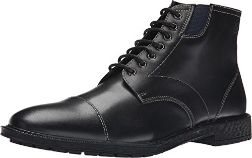 Stacy Adams Men's Dowling Chukka Boot, Black Smooth, 12 M (Black Smooth Chukka)