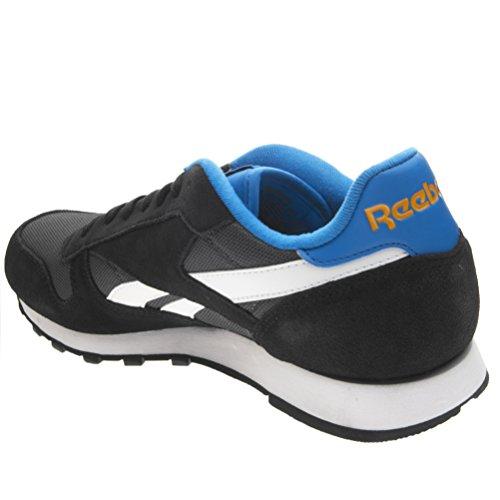 Classic da Coal Sport White Grigio Blue Blu Clean Corsa Arancione Reebok Nero Bianco Orang Sport Uomo Black Scarpe Bright p1qf44d