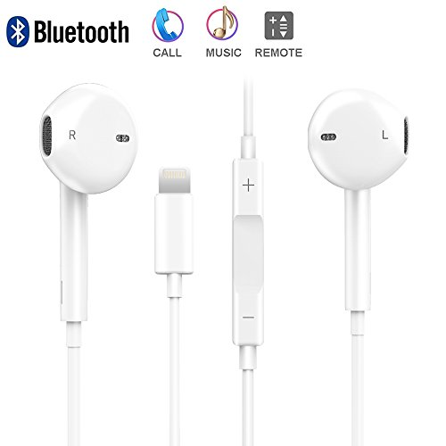 XS Earbuds with Microphone and Volume Control, Bluetooth Headphones Noise Canceling, XS Max Earphones with Mic for IP 7 8 X XR(Bluetooth Connectivity)
