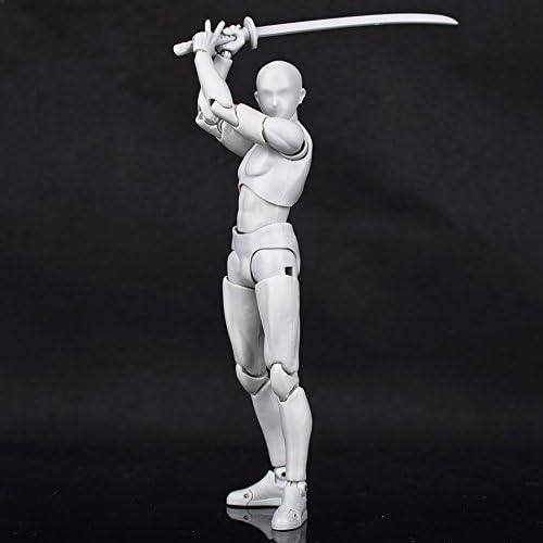 Body Kun DX Set Male Female Gray Color Body-Chan Action Figure Model Set PVC Figure Model Drawing for SHF S H Figuarts