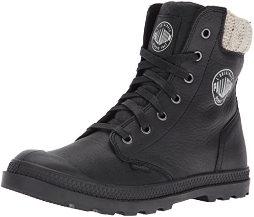 Palladium Boots Womens Women's Pampa Hi Knit LP Chukka, Black, 6.5 M US (Palladium Shoes compare prices)
