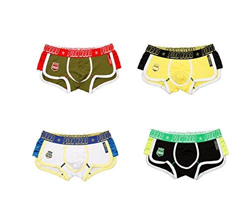 COCK'CON Men's 4-Pack or Single Pack Classics Stretch Cotton Boxer Brief