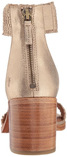 Frye Gold Bianca Zip WoMen Heeled Back Sandal Woven rOwraq0
