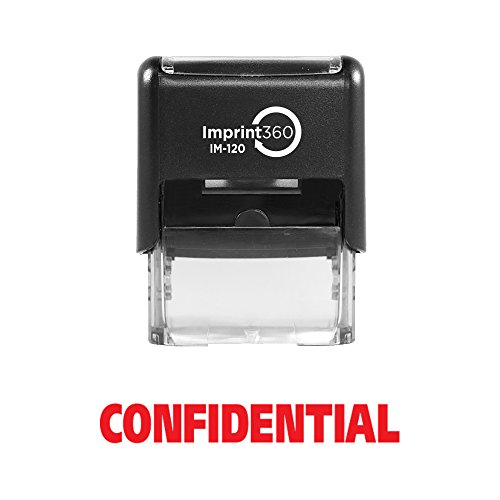 Confidential Ink Stamp - Imprint 360 AS-IMP1002 - Confidential, Heavy Duty Commerical Quality Self-Inking Rubber Stamp, Red Ink, 9/16