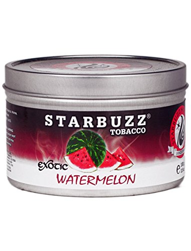 Watermelon 100g Grams Starbuzz Tin Can Free S and L Male and Female Hookah Tips Sold by S and L Star Buzz by starbuzz