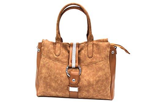 Borsa donna Regina Schrecker modello shopping a mano 17261-3 cuoio