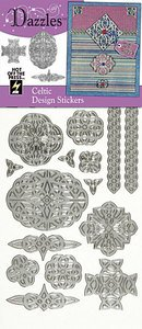Hot Off The Press Dazzles Stickers -Silver Celtic