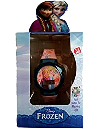 Girl's Disney Elsa Anna Frozen Flashing Lights LCD Watch