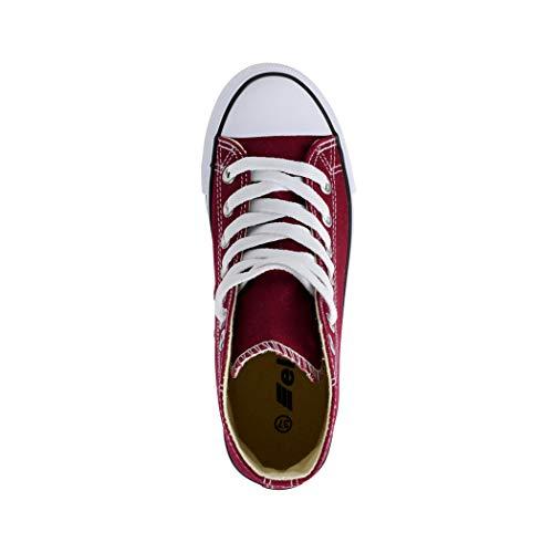 nbsp;zapatos nbsp;unisex Zapatos Loisirs nbsp;– Elara nbsp;– Sneakers Deporte De Top Tejido Rot High xYq6gwZS