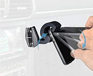 Gravity X Car Phone Mount award winning patented design uses only Gravity and leverage, mounts in seconds with one hand. Compatible with all Smartphones and Tablets