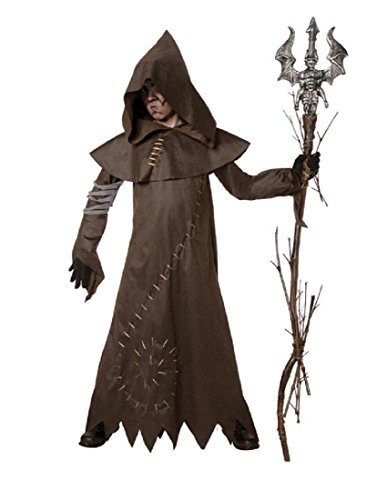 Palamon - Evil Warlock Child Costume - Medium (8-10) - Brown -