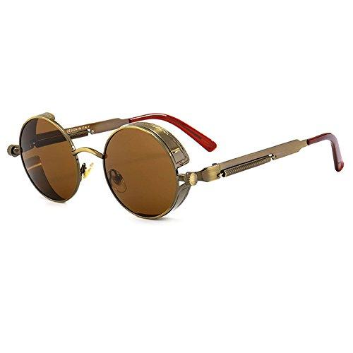 punk rondes hommes C13 de lunettes soleil nuances gothique steampunk UV400 femmes yuxin T0O4q