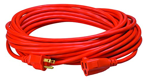 (Coleman Cable 23088803 02308 16/3 Vinyl Outdoor Extension Cord, Orange, 50-Feet)