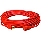 Coleman Cable Vinyl Outdoor Extension Cord In Orange With 3-Prong Plug
