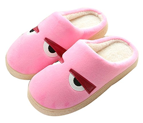 2015 Nuove Donne Blubi Modello Occhi Interni Caldo Pile Calde Pantofole Pantofole Scuff Rosa