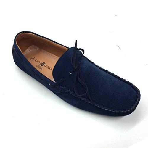 été Marine Mocassins Cuir TOUT Gino en enfiler Daim GIO NOUVEAU Fait à eu 11 chaussure Italie homme qz0US0wO
