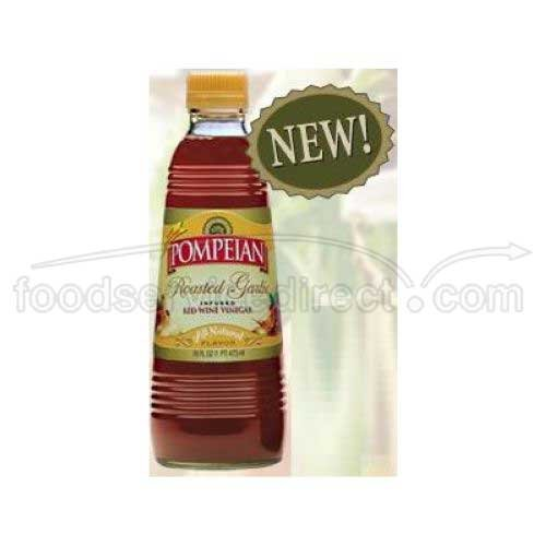 Pompeian Garlic Red Wine Vinegar, 16 Ounce - 6 per (Garlic Wine)