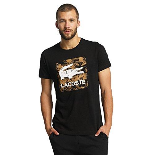 Lacoste Classic Herren Oberteile / T-Shirt Signs schwarz XL