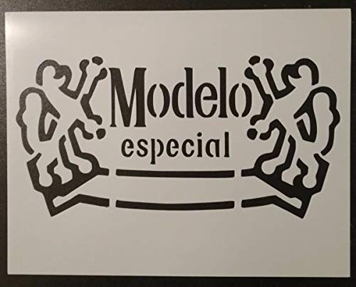 Custom Stencil Modelo Especial Beer 11 x 8.5 Fast