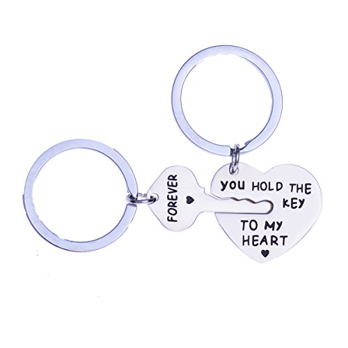 Key My Heart - Stainless Steel You Hold The Key To My Heart Forever Couple Keychain Love Keychain Key Ring Chain Lover Gift