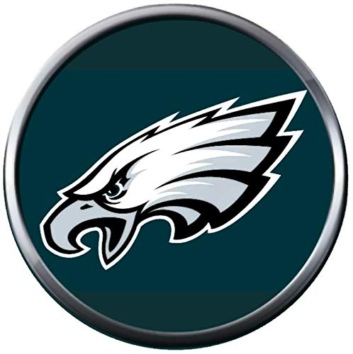 Philadelphia Charm - Fashion Snap Jewelry NFL Logo Philadelphia Eagles Green Background 18MM - 20MM Charm