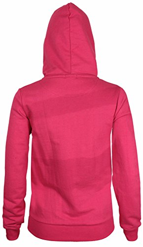 Purple Hanger - Sweat À Capuche Pour Femme Manches Longues Polaire Avec Glissière Neuf - 36, Cerise