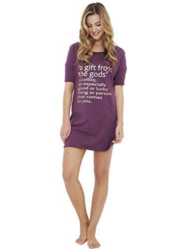 Gods morado regalo color color The de de Un L5003m dormir camisa ciruela morado con de tHqgwTx