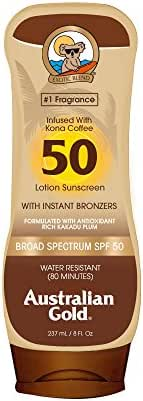 Sunscreen & Tanning: Australian Gold with Instant Bronzer