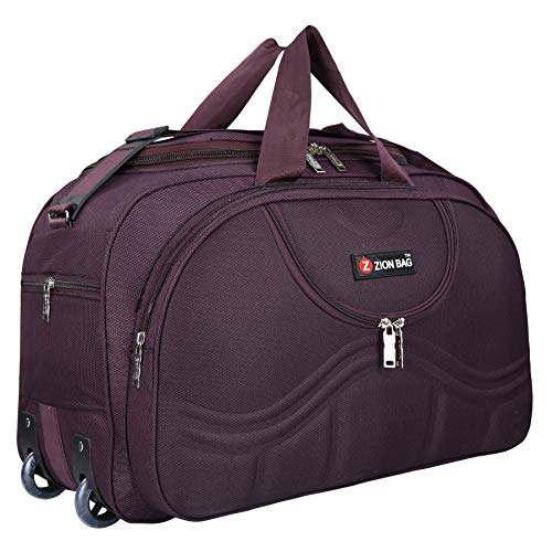 Zion bag Polyester Travel Duffel Bag with 2 Wheels purple Waterproof 55 L Luggage