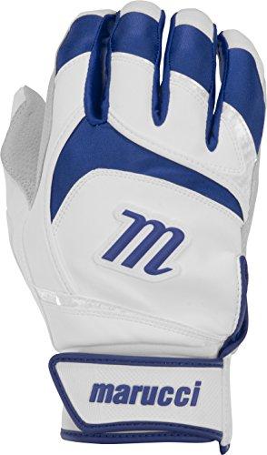 Marucci Adult Signature Baseball Batting Gloves, Navy Blue, Small
